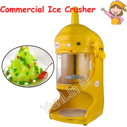 Commercial Ice Crusher Smoothie Machine Panda Shape Ice Flake Machine 220V Continuous Ice Machine
