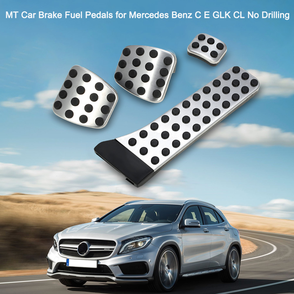 MT Car Brake Fuel Pedals for Mercedes Benz C E GLK CL No Drilling Auto Accessories Car Styling