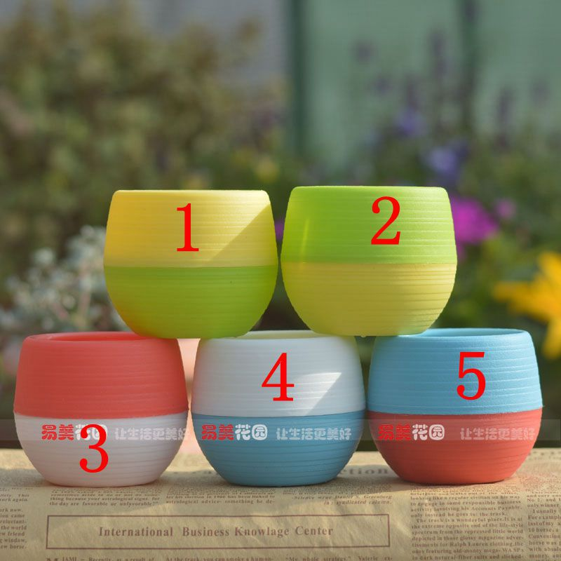 Fashion Mini creative flower pot DIY accessories 6.5cm 5 color optional Wedding decoration. Place adorn office 12pcs/bag 9616