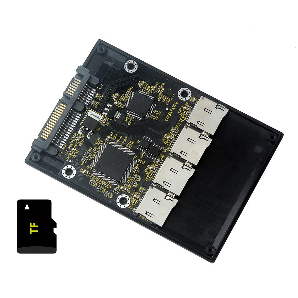 Free Shipping New 4 Micro SD TF Card To 22pin SATA Adapter Card 2.5