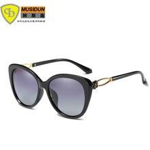 2018 новых женщин поляризованных солнцезащитных очков женщин Sunglases дамы Vintage солнцезащитные очки женщин бренда дизайнер солнцезащитные очки 05-399