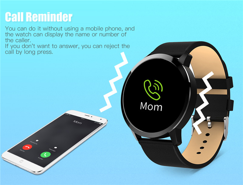 MAFAM Q8 Smart Watch OLED Color Screen Smartwatch Men Women Fashion Fitness Tracker Heart Rate Monitor For IOS Android Watch (19)