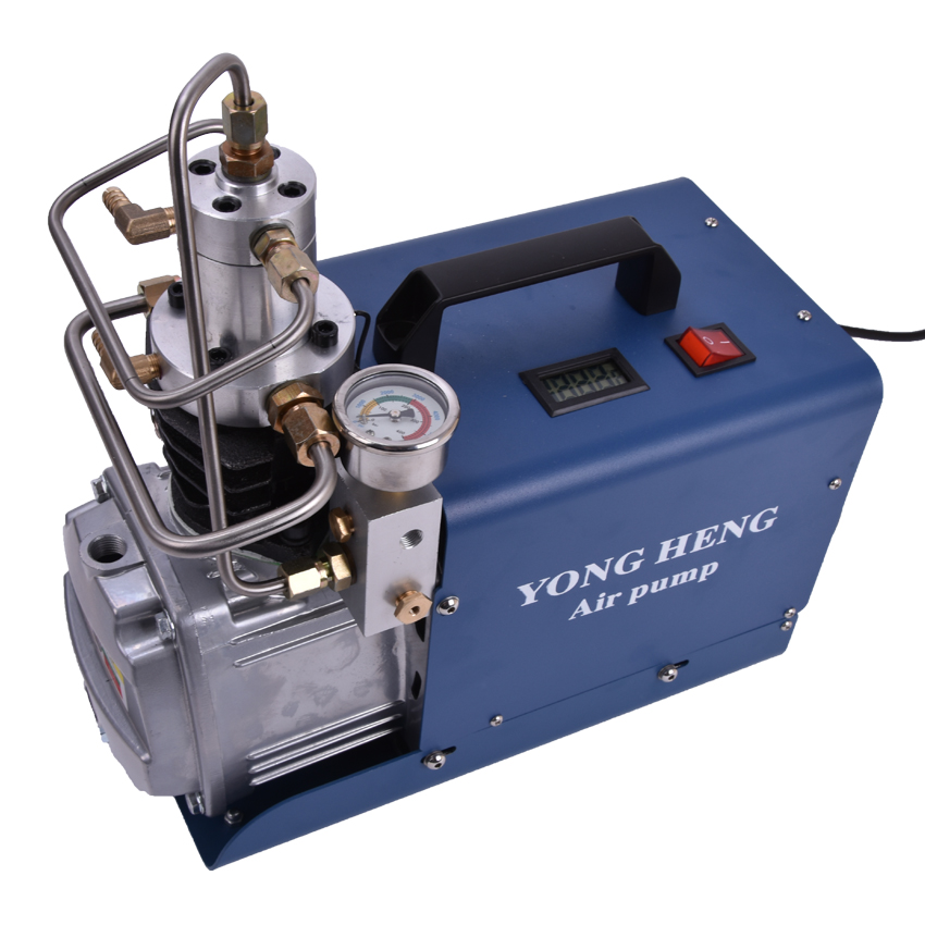 110/220V High Pressure Air Pump 300BAR 4500PSI 30MPa 1.8KW Electric Air Compressor for Pneumatic Airgun Scuba Rifle PCP Inflator oil free air compressor high pressure gas pump spray woodworking air compressor small pump 3 1100 100l