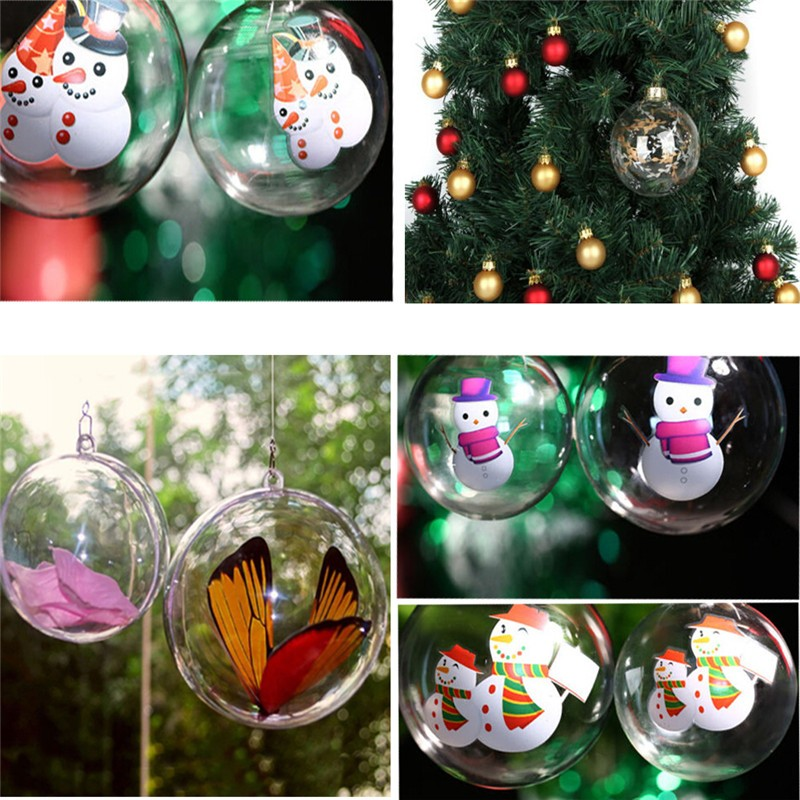 Decorative Christmas Ball Ornaments: 2017 Christmas Trees Ornament Decoration Open Plastic
