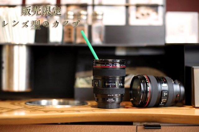 Freeshipping 1pcs/lot EF 24-105mm Lens 24-105 1:1 Coffee Cup Mug CE Certification Novelty Gift