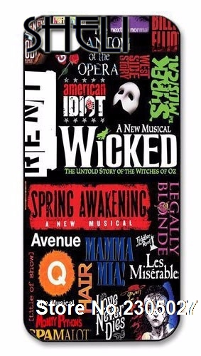 SHELI Broadway Musical Wicked case cover for iphone 5s 6
