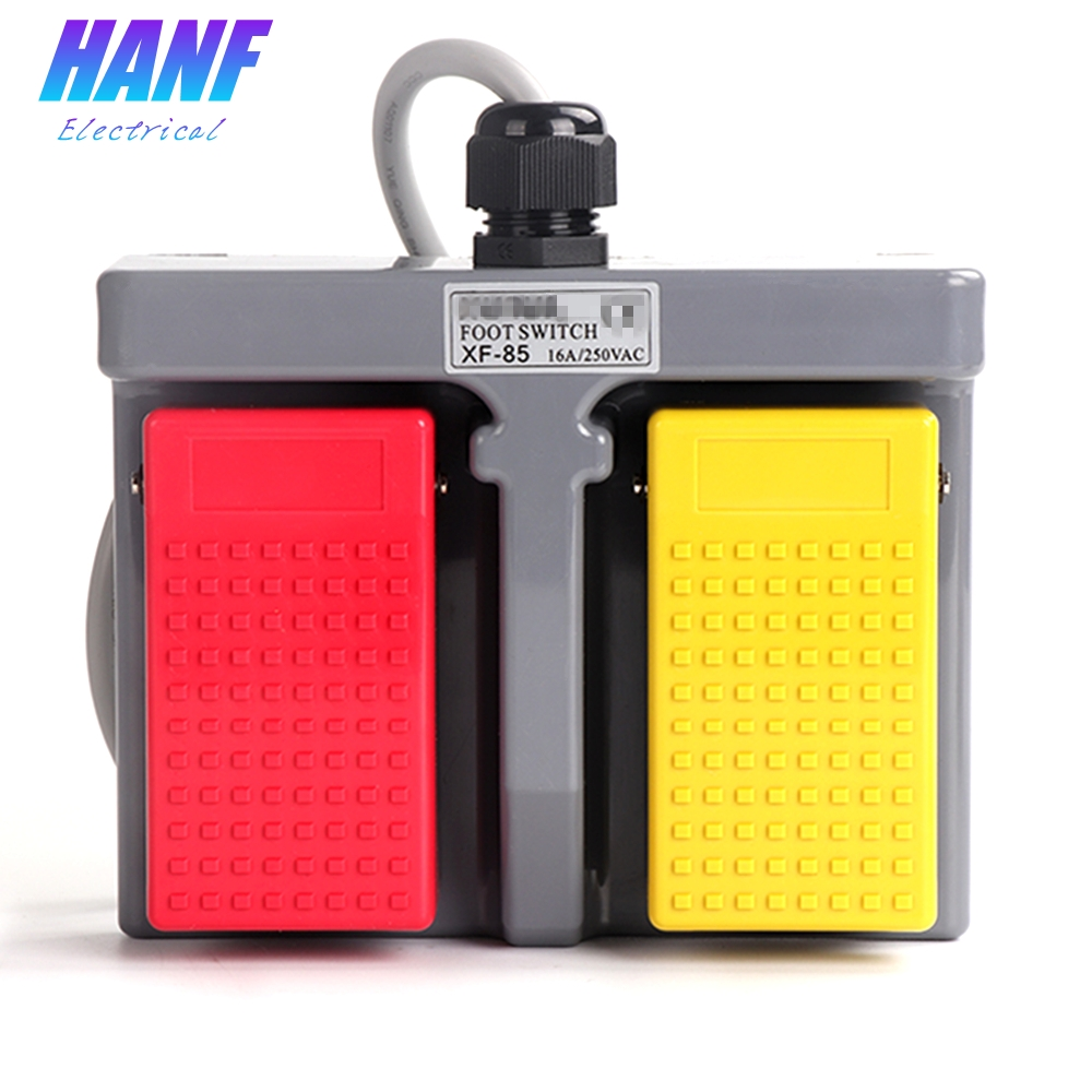 1pcs Plastic Foot Switch Infinity Double Pedal Foot Pedal Switch Duplex two-way Tumbler Switch Self-return 16A/250VAC 1NO x 2 thermos double glass tumbler