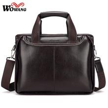 2016 neue Männer Business Aktentasche Handtaschen leder Laptoptasche Hohe qualität Männer Totes Männer Umhängetasche männer Casual Crossbody taschen