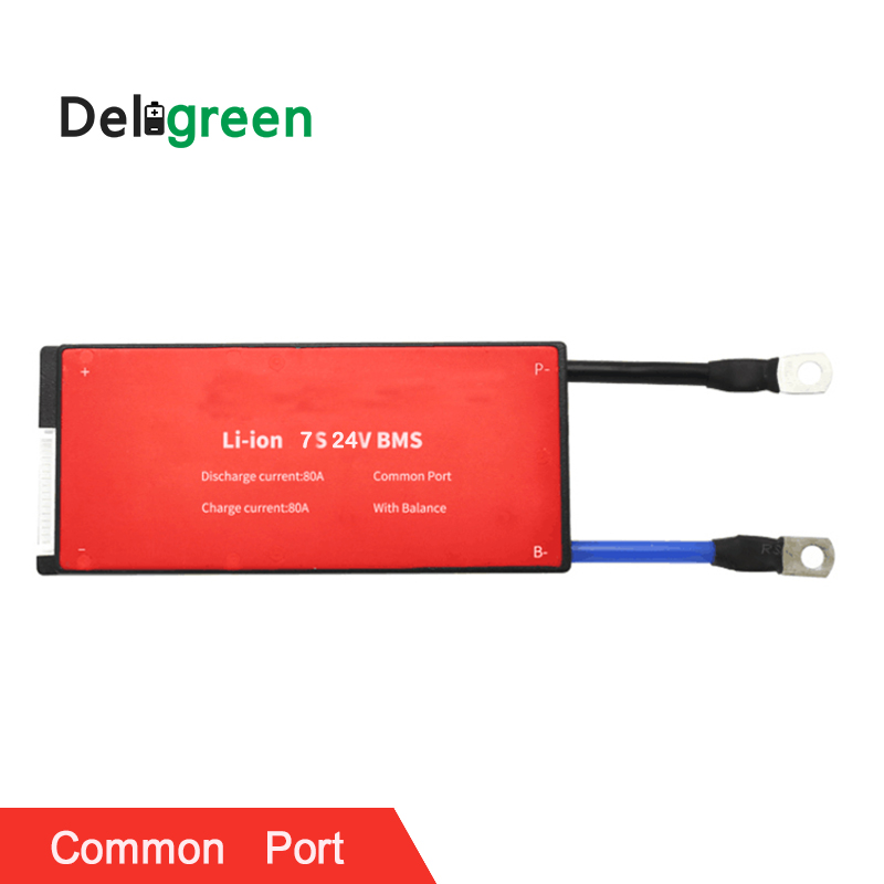 Deligreen 7S 80A 24V PCM PCB BMS for lithium battery pack 3 7V Rated 18650 Lithion