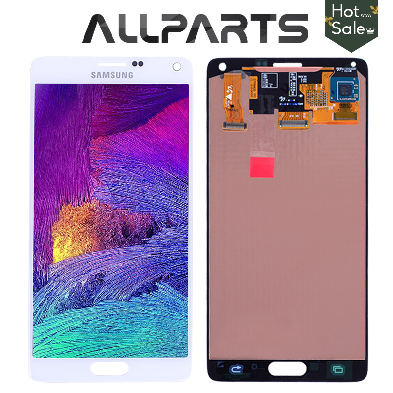 Original 5.7'' AMOLED Screen For SAMSUNG Galaxy Note 4 LCD Display Note4 N910 Touch Screen Digitizer N910A N910F N9100 Replace