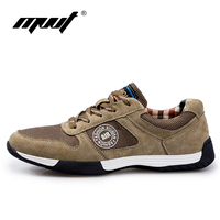 2016 Autumn Comfortable Running Shoes Genuine Leather Men Sports Shoes Good Quality Daily Walking Shoes