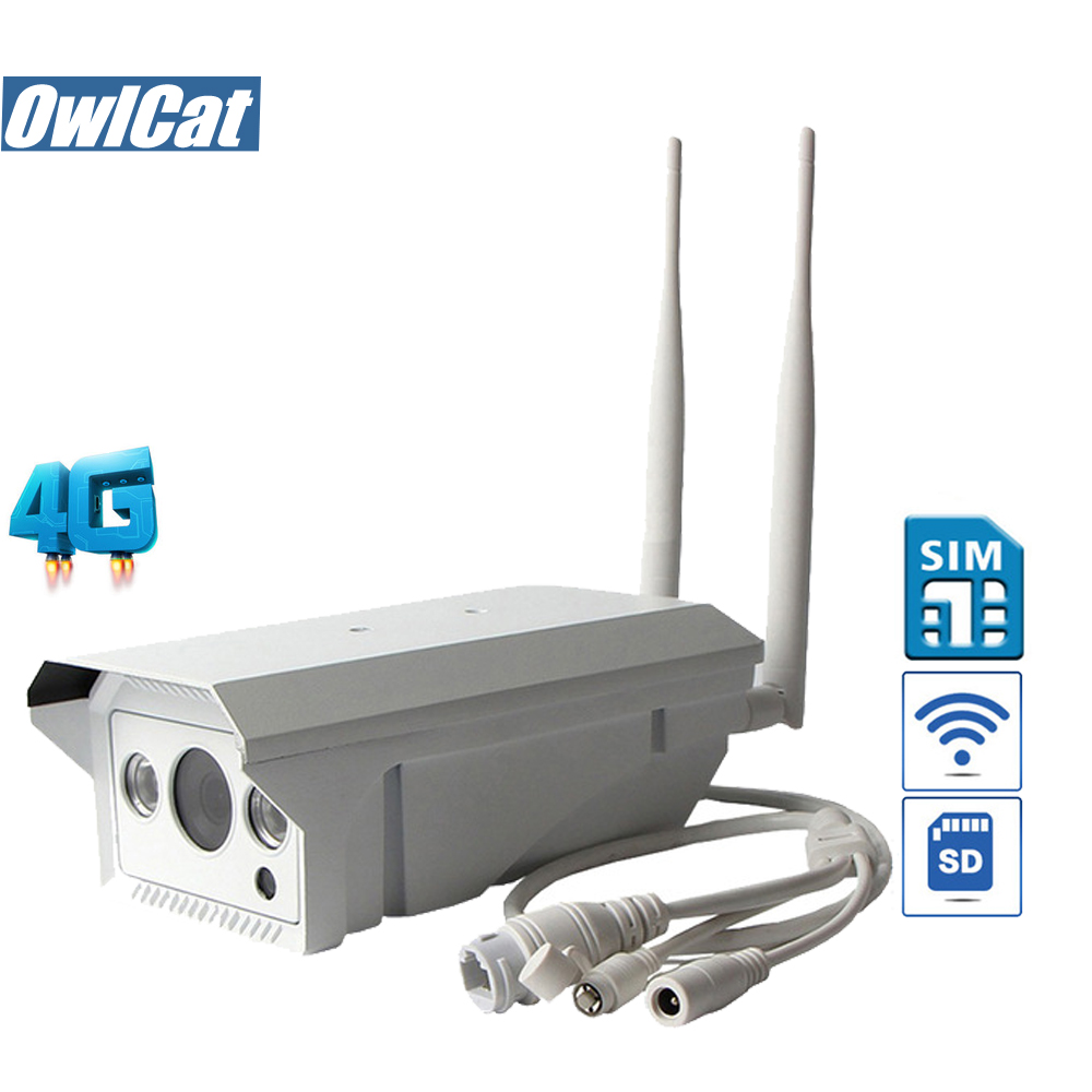 OwlCat Waterproof Bullet IP Camera WIFI Outdoor GSM 3G 4G SIM Card HD 1080P 960P IR SD Slot P2P AP Motion Security CCTV Camera gadinan hd 1080p 960p 720p wireless ip camera p2p rtsp motion detected waterproof wifi camera bullet with 64g sd card slot icsee