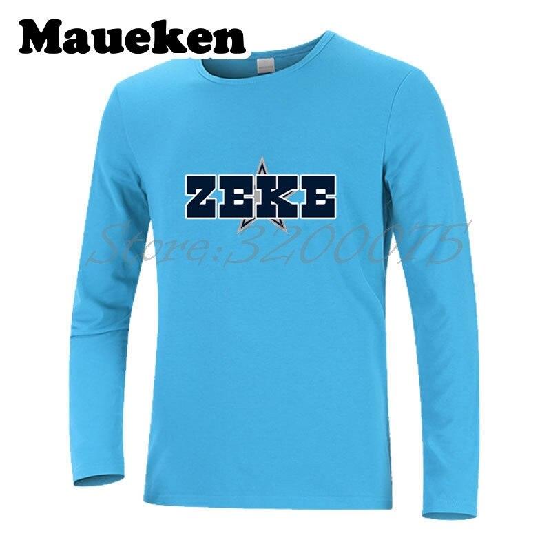 346bdaf9aa9 Autumn Winter Ezekiel Elliott #21 Men T-Shirt Long Sleeve Tees T SHIRT  Men's cowboys S-XXXL ZEKE Logo W1021015