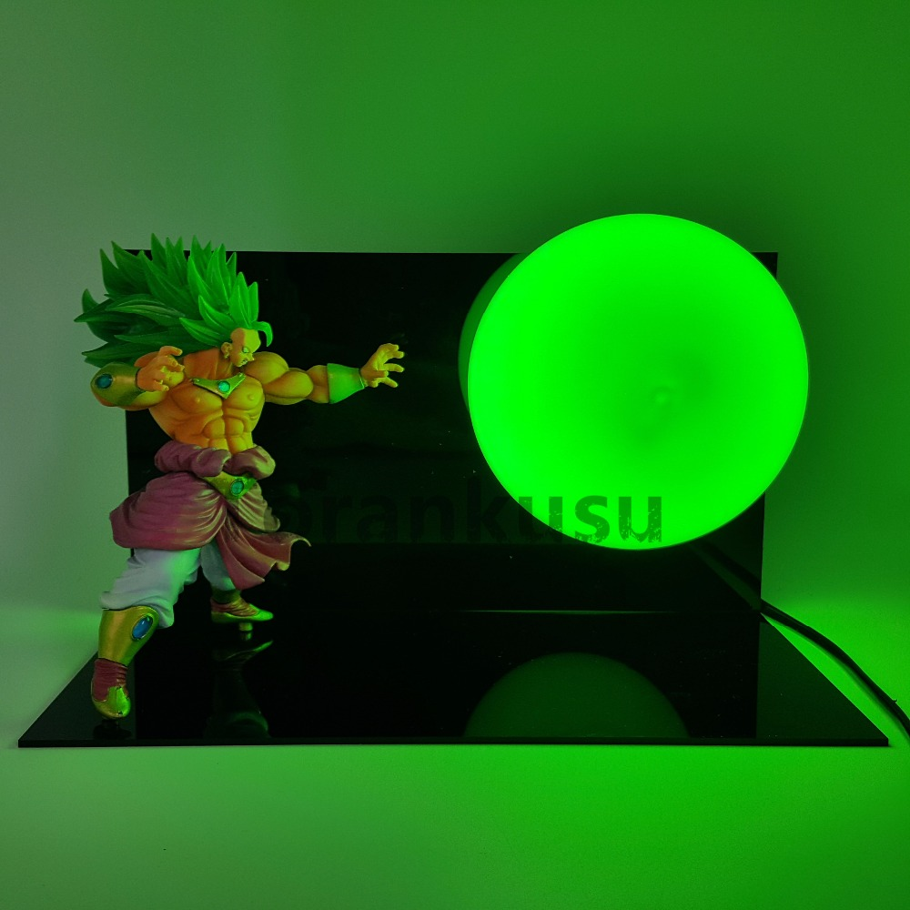Dragon Ball Z Broly PVC Action Figure Collectible Model Toy Anime Dragon Ball Super DBZ Broly Super Saiyan 3 Kamehameha Led Bulb dragon ball z action figure broli super saiyan pvc model toy broly esferas del dragon dbz figuras db11