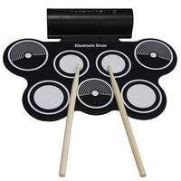 KONIX Tragbare Rollen Oben 7 Silikon Pad USB MIDI E-drum Set MD759 Mit Stick Musikinstrument