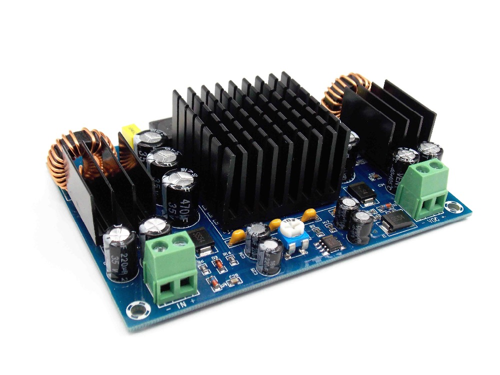 XH-M545 high power automobile power amplifier board TPA3116D2 boost program DC12V single channel 150W