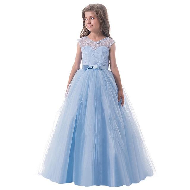 db6a69d6438b9 Adolescente dentelle fleur robe de mariée vêtements enfants enfants vêtements  fille 6 8 10 12 14