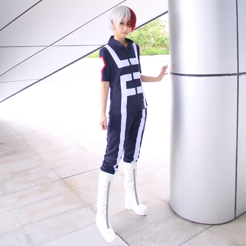Image 4 - Anime Boku no Hero Bakugou Katsuki/Iida Tenya/Todoroki Shouto Cosplay Costume My Hero Academia Sportswear Tops+PantsAnime Costumes   -