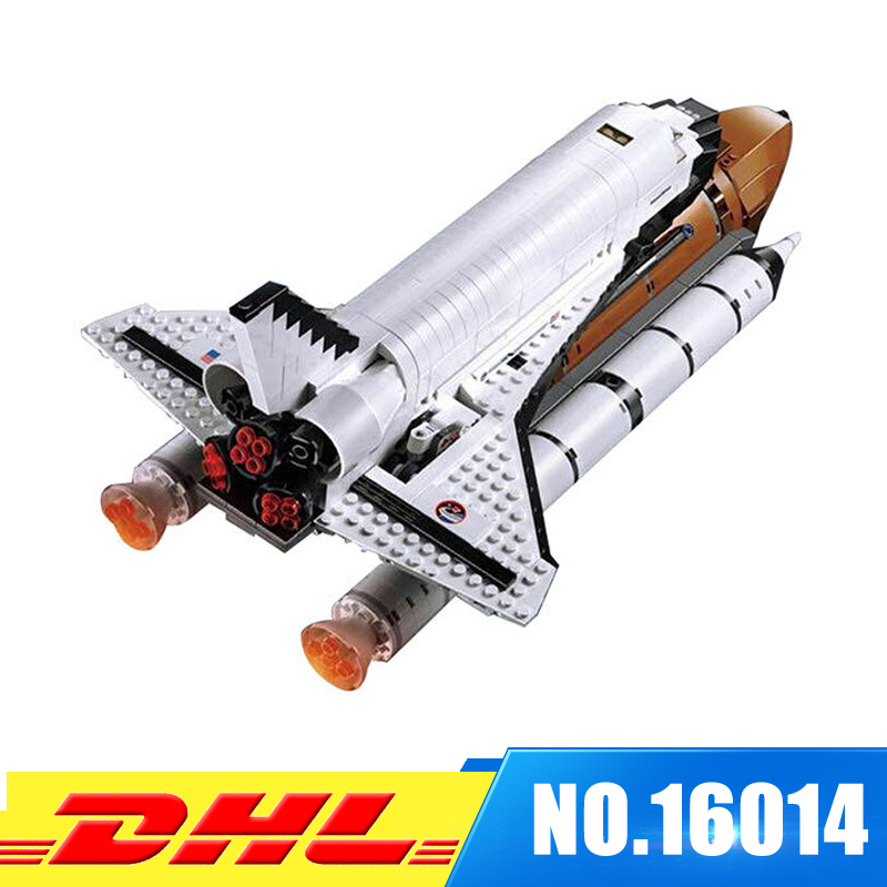 Fit For 10231 LEPIN 16014 1230Pcs Space Shuttle Expedition Model Building Kits Set Blocks Bricks Toys Gift lepin 16014 1230pcs space shuttle expedition model building kits set blocks bricks compatible with lego gift kid children toy