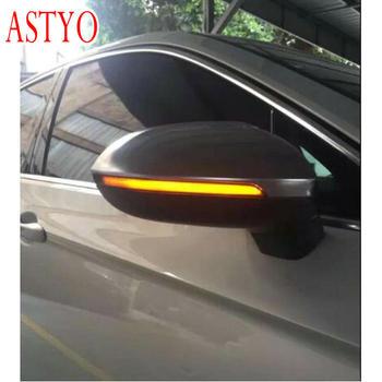 ASTYO Car LED Flowing Rear View Dynamic Sequential MIRROR Water Turn Signal Light for  Golf 7 GOLF R Sportsvan Touran