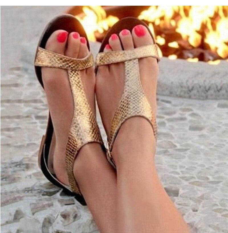 HTB1G0ddbznuK1RkSmFPq6AuzFXa0 Summer Shoes Woman Sandals 2019 Fashion Open Toe Beach Gladiator Sandals Women Rome Casual Flat Sandals Sapato Feminino