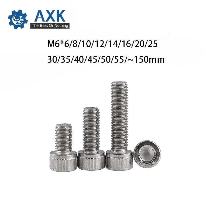 A2 Acier inoxydable Allen Bolt Socket Cap Screws Tête Hexagonale DIN 912 Métrique M2 2 mm