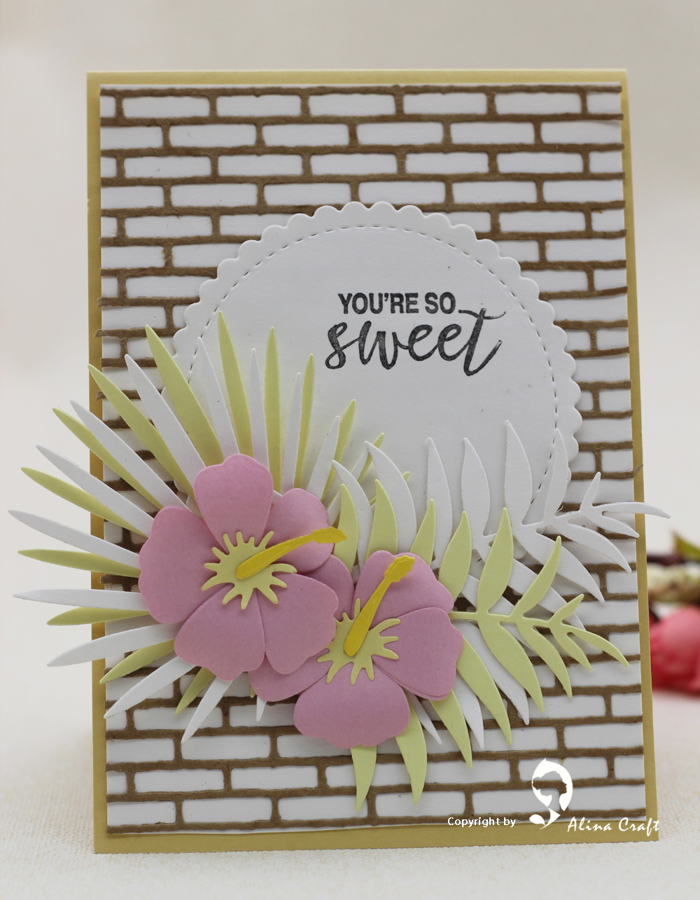 These Structured Flowers Are Made From 1 Inch Circles Made With A
