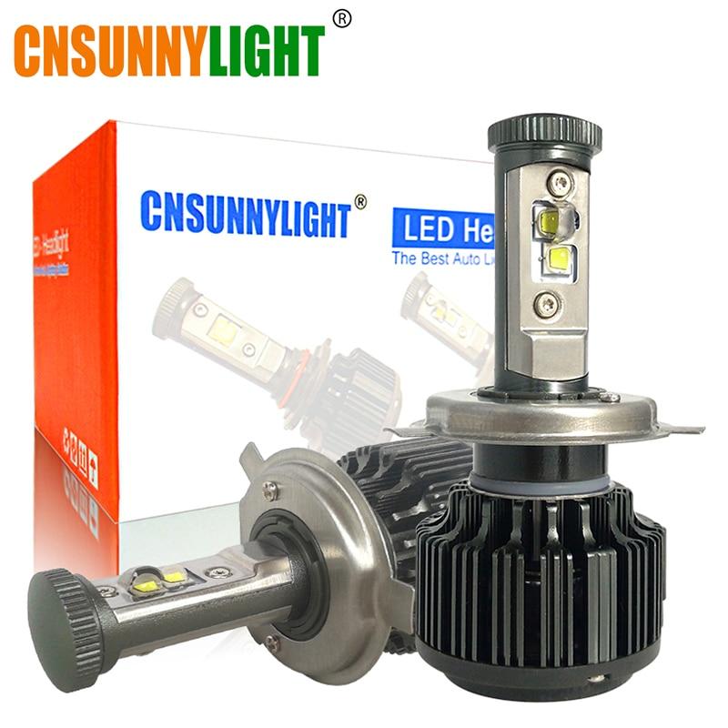 Cnsunnylight H4 Hi/lo H7 H11 9005 9006 светодиодные фары автомобиля 8000lm 3000 К 4300 К 6000 К высокое Авто яркости фары Conversion Kit
