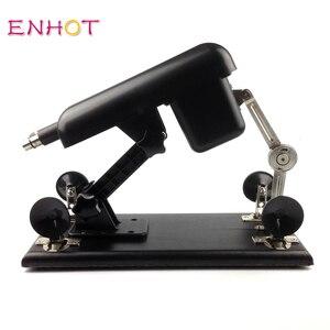 Image 5 - ENHOT Süße Papi sex maschine für frauen 6 dildos + 2 verlängerung stangen, AU,EU,USA,UK stecker, automatische versenkbare liebe maschine Papi 004