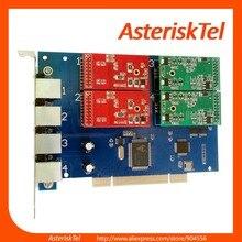 Asterisk PCI карта TDM410P с 2 FXO+ 2 FXS портами, TDM400P, карта Asterisk FXO карта FXS, FreePBX Issabel Asterisknow Elastix 4