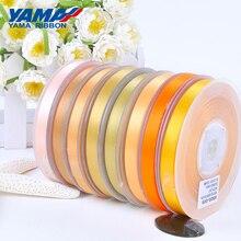 YAMA 25 28 32 38 мм 100 ярдов / лот Однолицевая атласная лента светло-желтого цвета для украшения