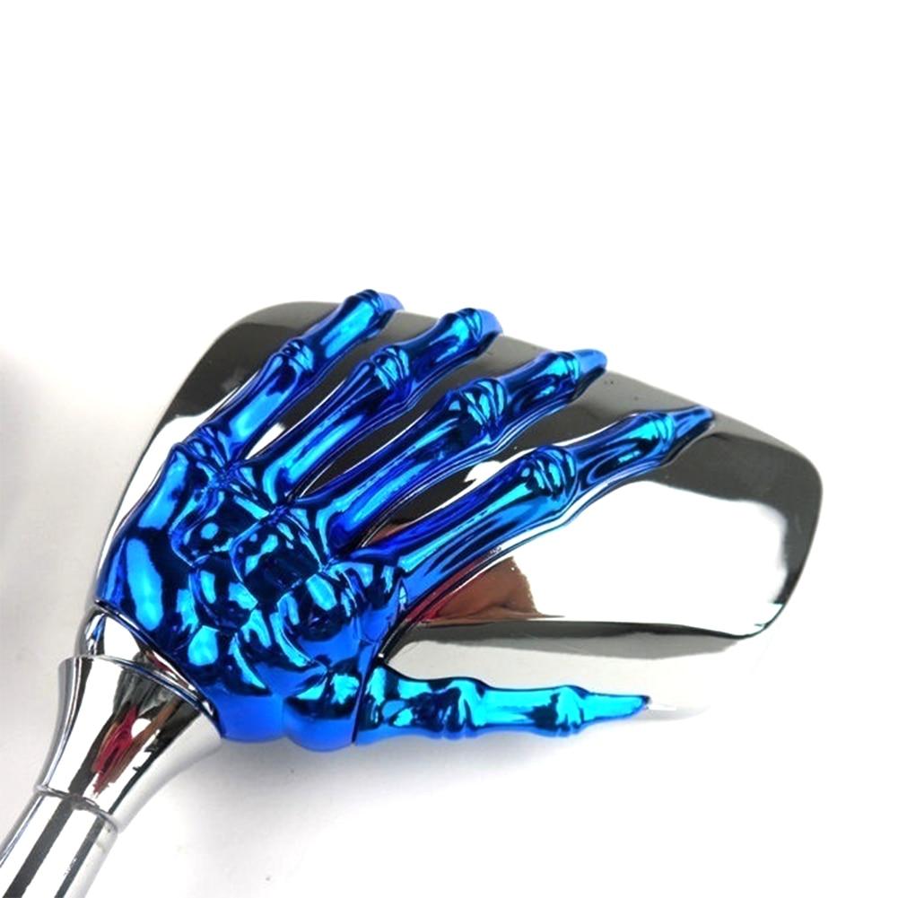 1 пара череп ручной руль мотоцикла крепление безопасности сторона зеркало заднего вида объектив