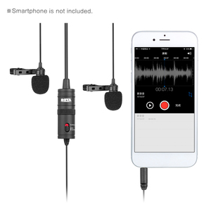 Image 3 - BOYA BY M1DM Microphone with 6M Cable Dual Head Lavalier Lapel Clip on for DSLR Canon Nikon iPhone Camcorders Recording VS BY M1
