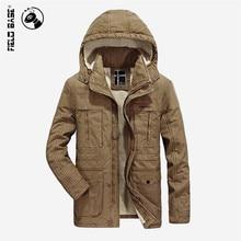 Field Base 2017 New Arrival Brand Winter Jacket For Men Thick Warm Parka Men Wool Coat Casual Long Style Velvet Jackets 3XL