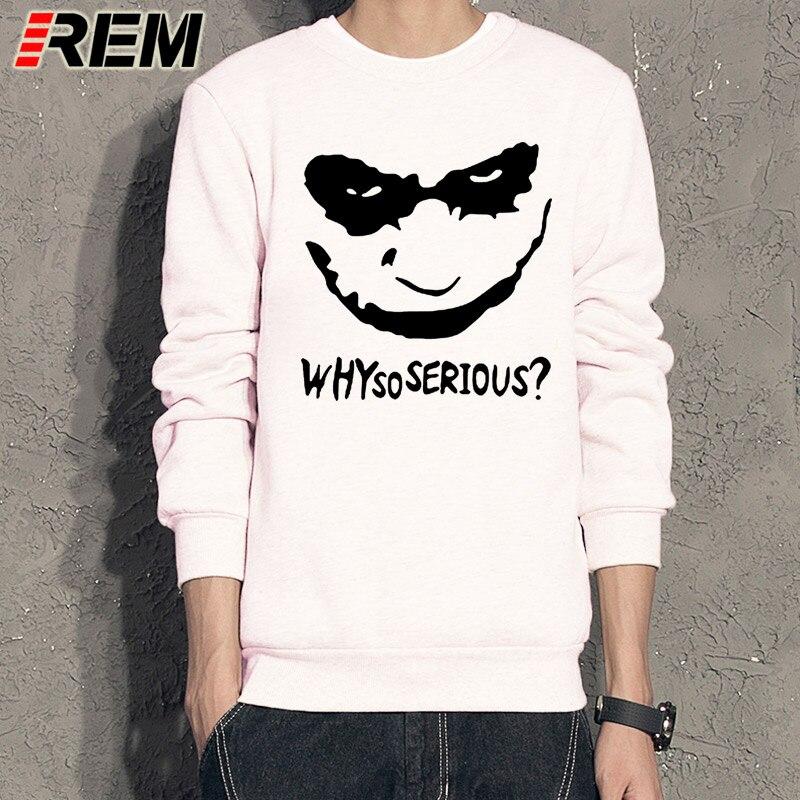 REM New Joker Heath Ledger Sweatshirts Men Casual Why So Serious Joker Hoodies Top Hot Free Shipping