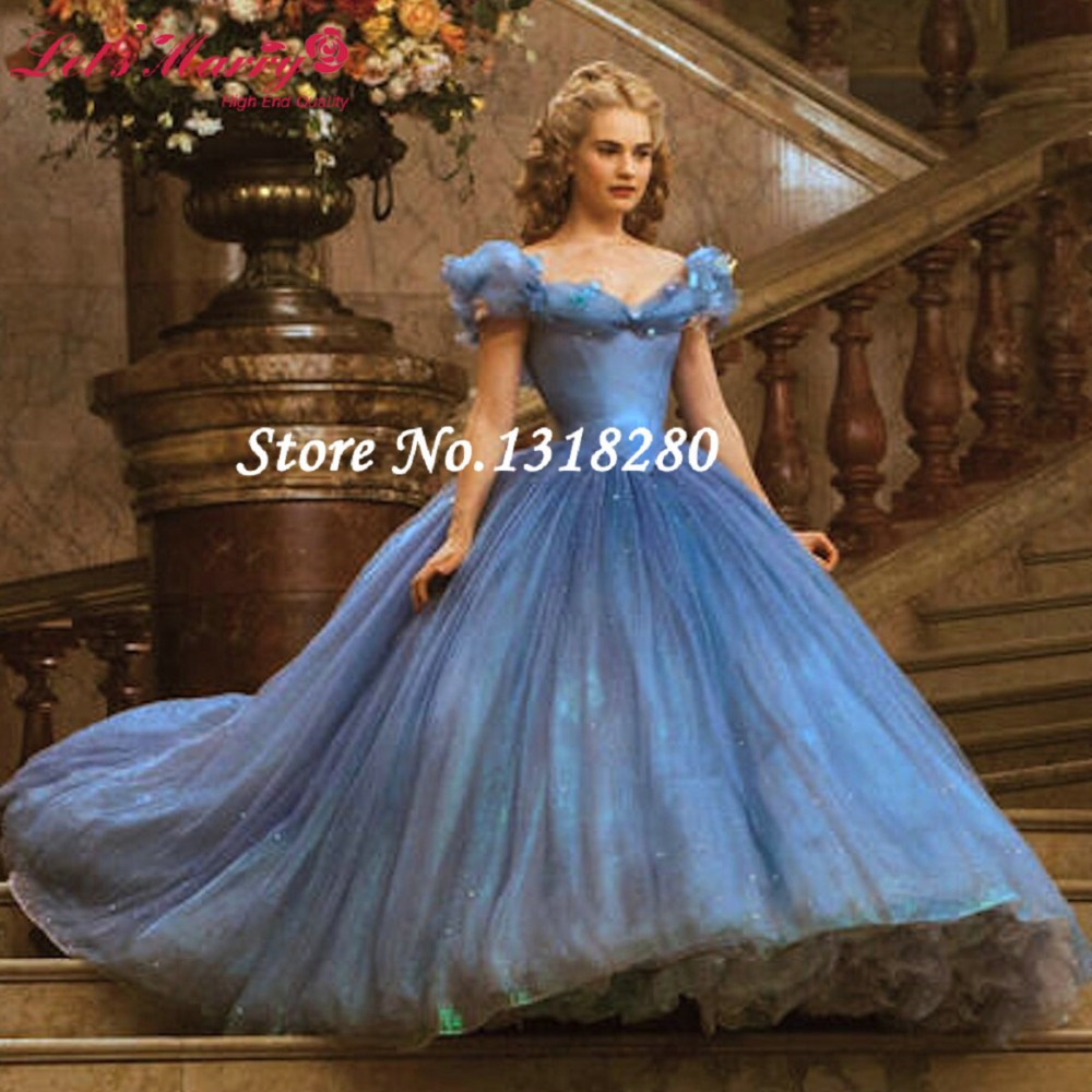 Ball Gown Boat neck Evening Dress with Short Cap Sleeve Sky Blue ...