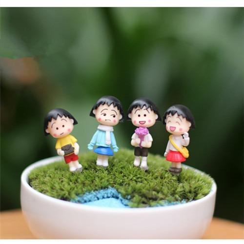 4 PCS / Mini indah kimono gadis / peri taman gnome / terraium - Dekorasi rumah - Foto 1