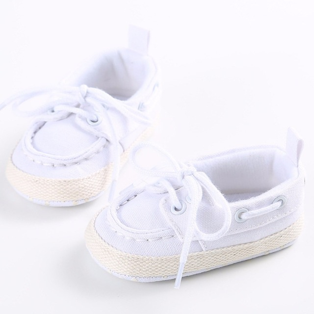 Infants Baby Boys Girls Soft Soled Crib Shoes