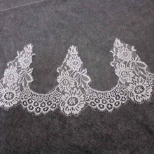 High Quality Eyelash Lace Wedding Veil WITHOUT Comb One Layer 150CM Short Bridal Veu de Noiva Delicate Trims