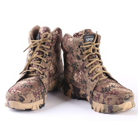 Professional Mens Camouflage Army Boot Army Military Boots Winter Fur Warm Tactical Combat Shoes Anti Skid Desert Boots AA12003