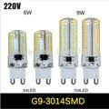 Mini G9 6 W 9 W lâmpada LED AC 200 V Sillcone corpo Bulbo De Milho LEVOU lâmpada LED blub Lustre de Cristal luz de halogéneo COB