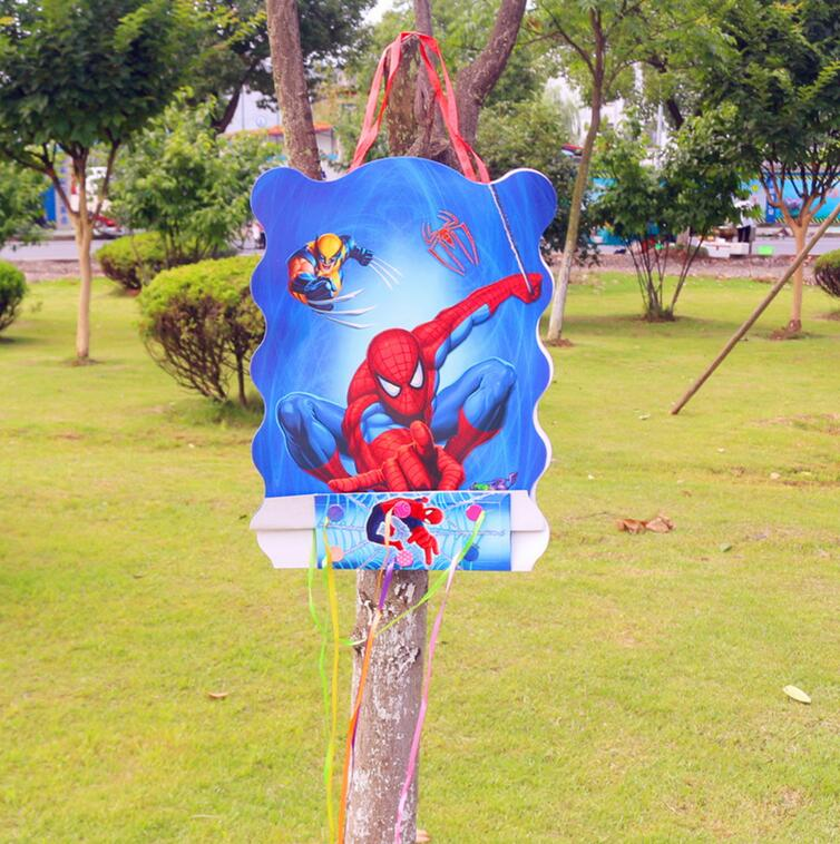 Party supplies 1pcs children kids The <font><b>spider-man</b></font> <font><b>pinata</b></font> theme party decoration