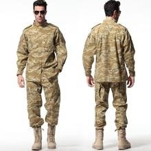 Британский Армейский пустынный Камуфляжный костюм ACU тактическая БДУ Камуфляжный костюм наборы CS боевой военный Пейнтбол Униформа куртка и брюки