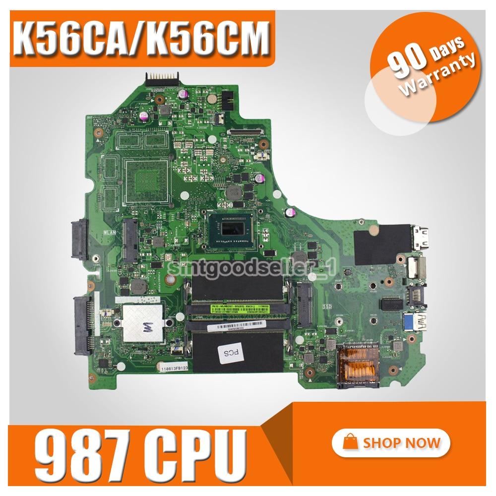 K56CA Motherboard 987 CPU For ASUS S550C K56CM K56CB S56C K56C Laptop Motherboard K56CA Mainboard K56CA Motherboard Test 100% OK