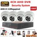 Full HD 1080 P 2.0MP Cámara de $ number canales sistema CCTV AHD DVR y 4 unids Array IR Día noche Vigilancia AHD AHD Cámara de Seguridad de Interior conjunto