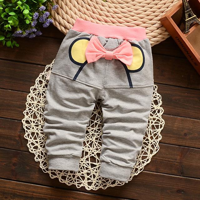 Nova primavera borboleta chegada calças crianças roupas de bebê jeans meninas harem Pants 100% calças de algodão para crianças frete grátis