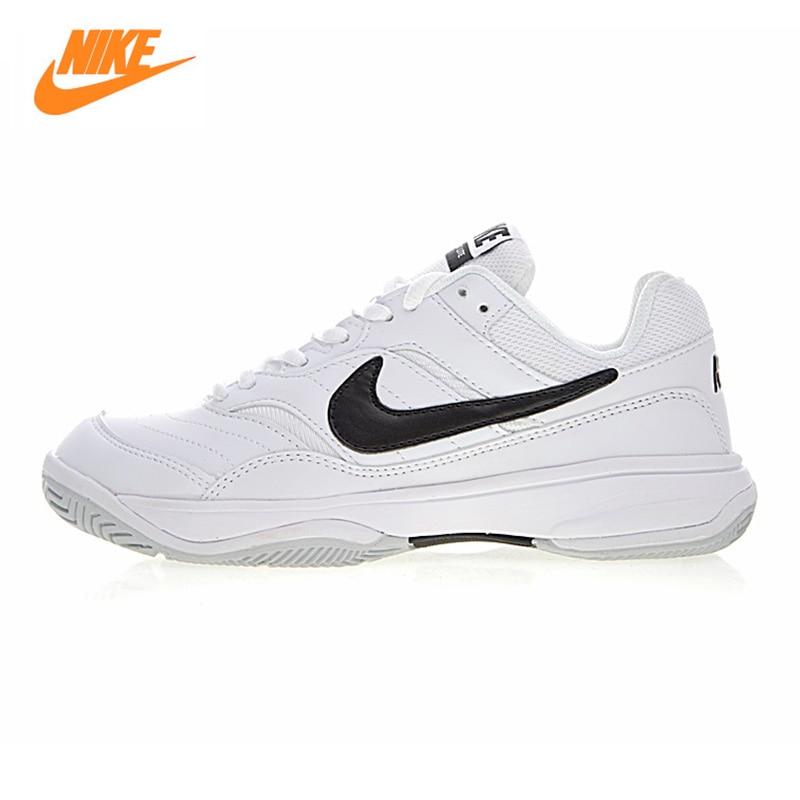 NIKE COURT LITE Women's Tennis Shoes, Black Grey, Shock Absorption Non-slip Wear Resistant Breathable 845048 101 845048 100 цена