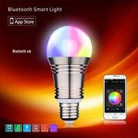 AC 100 240V E26 E27 Type App Enabled Bluetooth Wireless 4 0 RGBW Energy Efficiant Smart