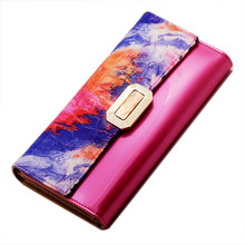 2016 luxury brand women wallets genuine leather coin purse famous brand long womens purses 100% real leather wallet