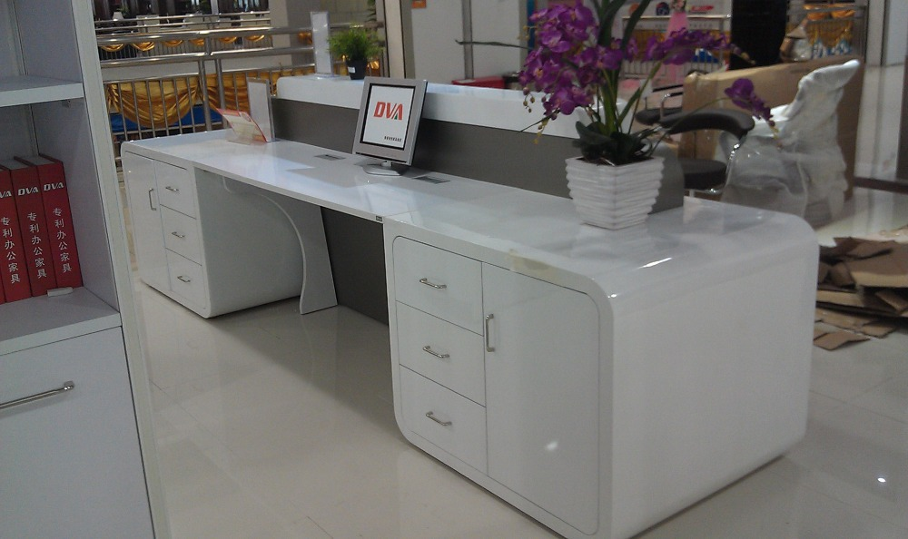 restaurant bank tanning salon reception desk counter furniture with stainless steel - Salon Reception Desk